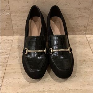 M&S Black Block Heels